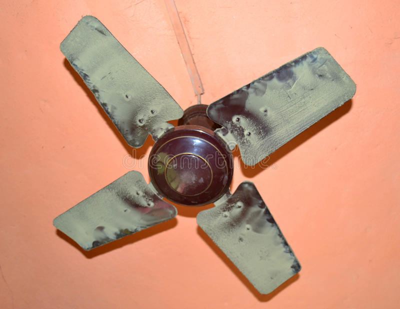 Air circulation. Using a ceiling fan, reduces the feeling of heat. It assumes a certain height under ceiling and the use of a slowly turning device to avoid the stock photos