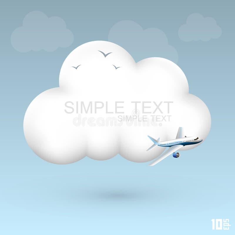 Air cloud. Icon art creative. Vector illustration vector illustration