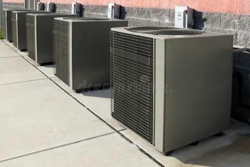 air compressor conditioner units 图库摄影