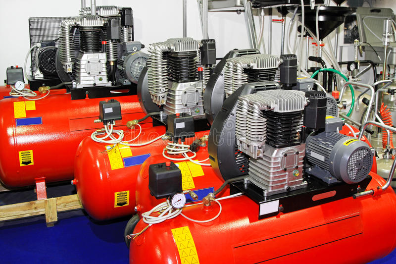 Download Air compressors stock image. Image of power, industrial - 22145313