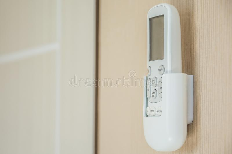 Air condetioner remote control royalty free stock photo