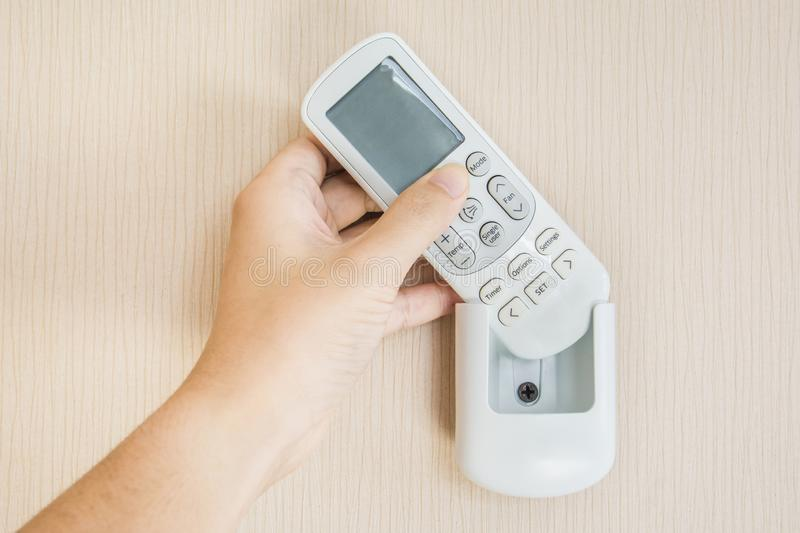 Air condetioner remote control stock images