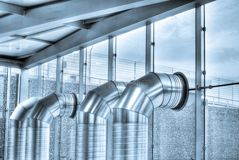 Air condition. Tubes, hdr photography royalty free stock images
