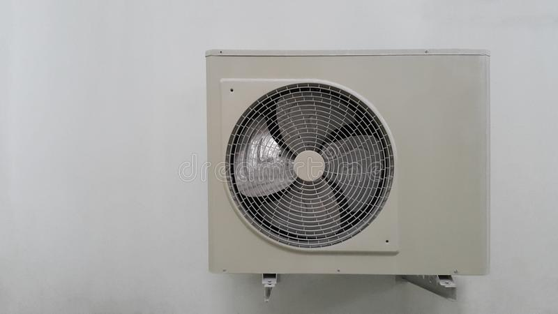 Air condition unit on wall stock image