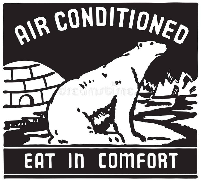 Air Conditioned 3. Retro Ad Art Banner royalty free illustration