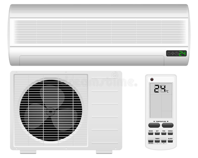 Air conditioner. System on white background vector illustration