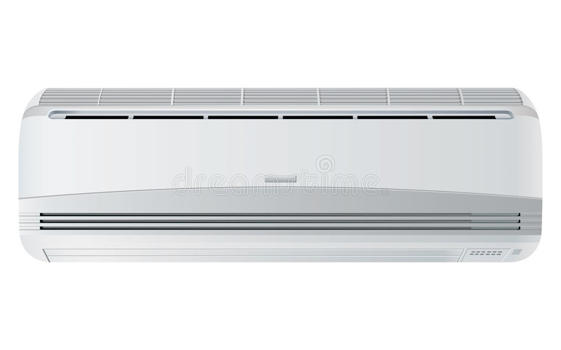 Air conditioner. Rasterized illustration isolated with clipping path royalty free illustration