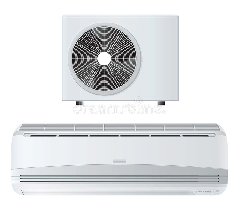 Air conditioner. Vector illustration isolated with clipping path