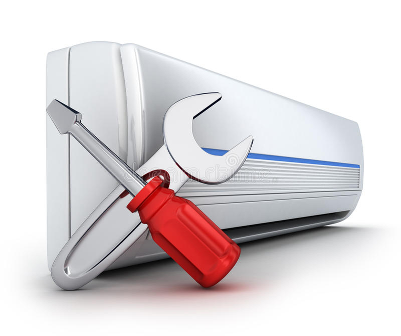 Air-conditioner. On white background (done in 3d vector illustration