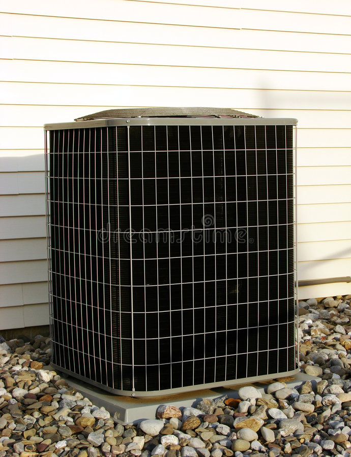 Air Conditioner Ac Condenser Unit Outside House Stock