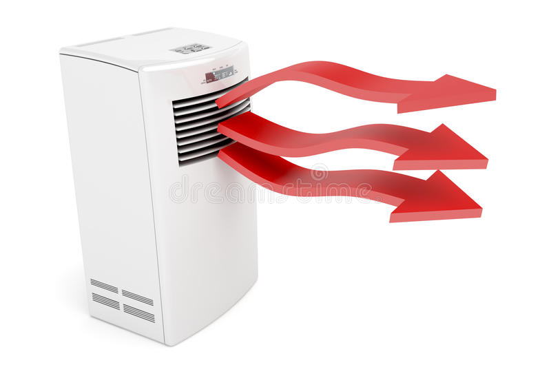 Download Air Conditioner Blowing Hot Air Stock Illustration - Illustration: 21536886