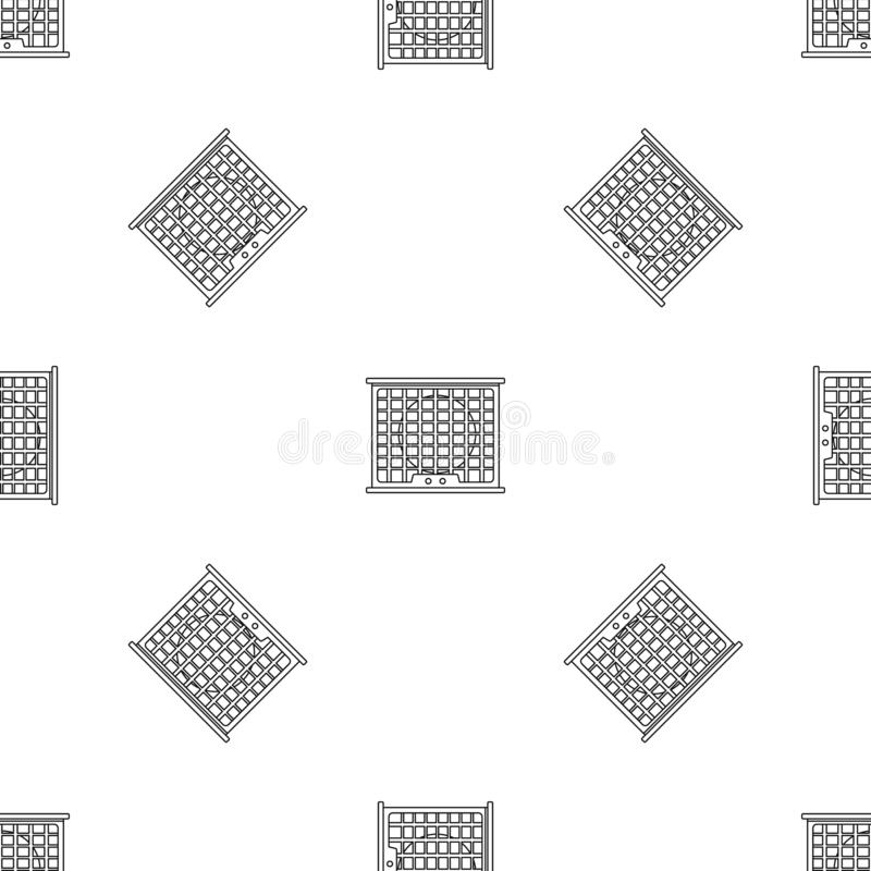 Air conditioner compressor pattern seamless vector. Repeat geometric for any web design stock illustration