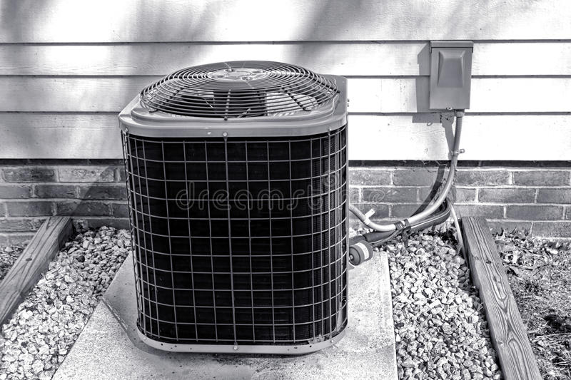 Air Conditioner Cooling Fan Exchanger Outdoor Unit royalty free stock image