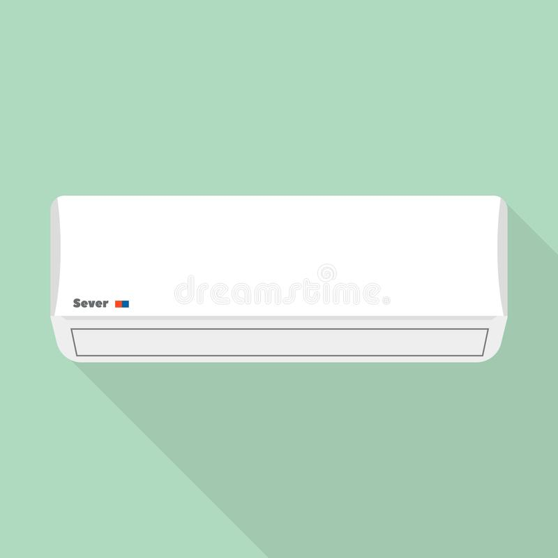 Air conditioner icon, flat style. Air conditioner icon. Flat illustration of air conditioner vector icon for web design royalty free illustration