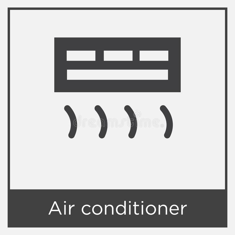 Air Conditioner Icon Isolated On White Background Stock Vector