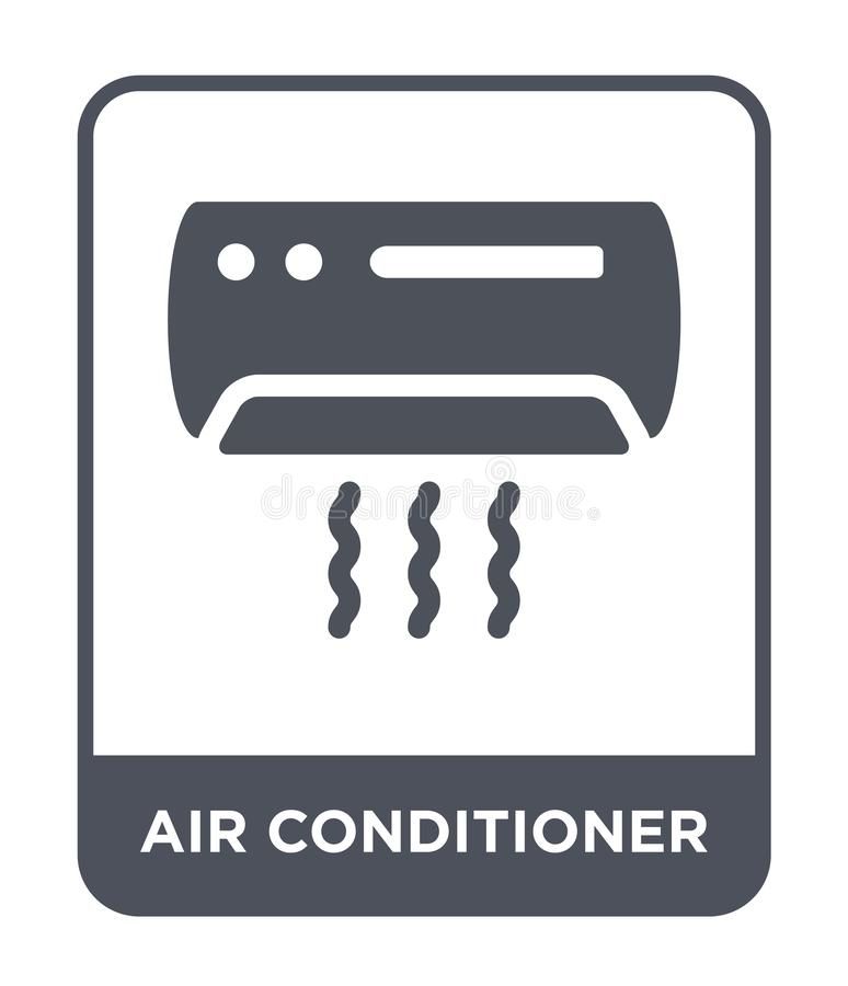 air conditioner icon in trendy design style. air conditioner icon isolated on white background. air conditioner vector icon simple stock illustration