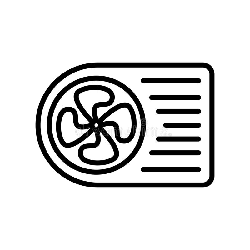 Air conditioner icon vector isolated on white background, Air conditioner sign , line and outline elements in linear style. Air conditioner icon vector isolated stock illustration