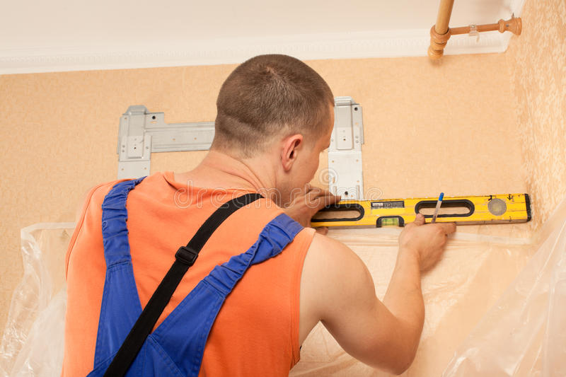 Download Air Conditioner Installer Royalty Free Stock Photography - Image: 26058567