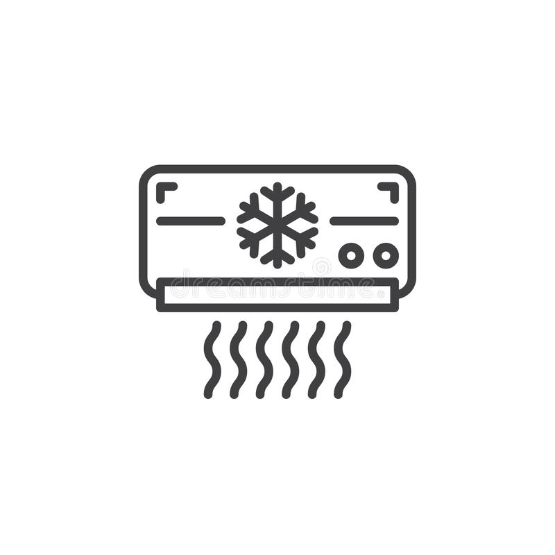 Ac Unit Prices >> Air Conditioner Line Icon, Outline Vector Sign, Linear Pictogram Isolated On White. Stock Vector ...