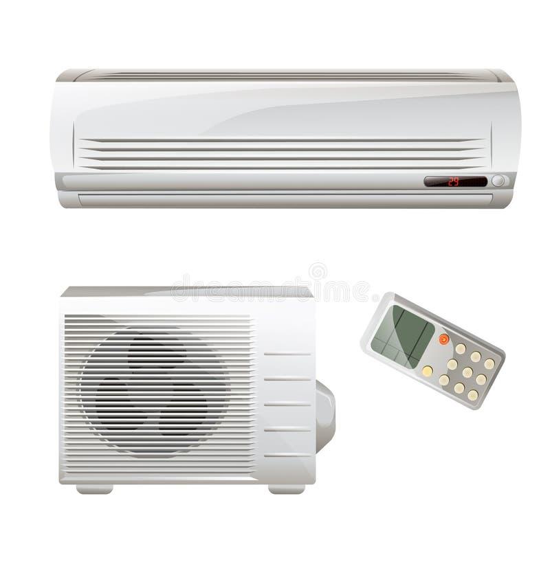 Air conditioner set vector illustration