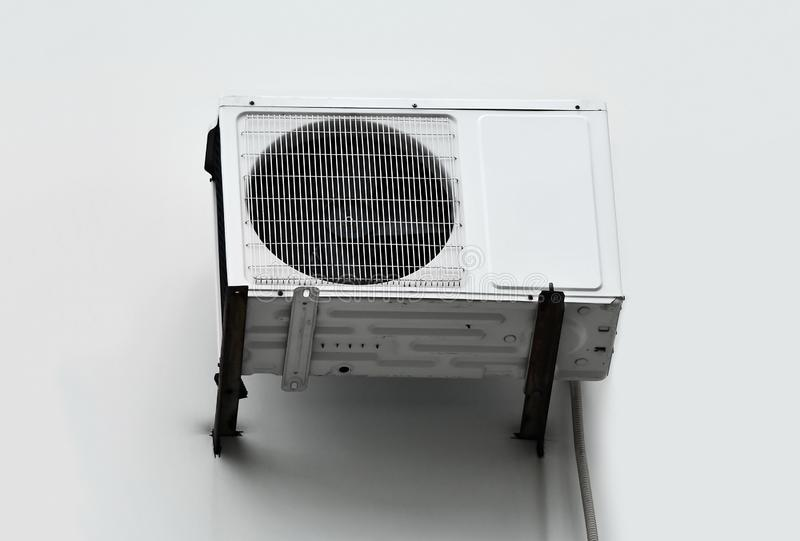 Air conditioner system on wall. HVAC air conditioning and ventilation systems on wall stock image