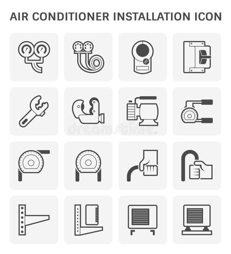Air conditioner tool vector illustration