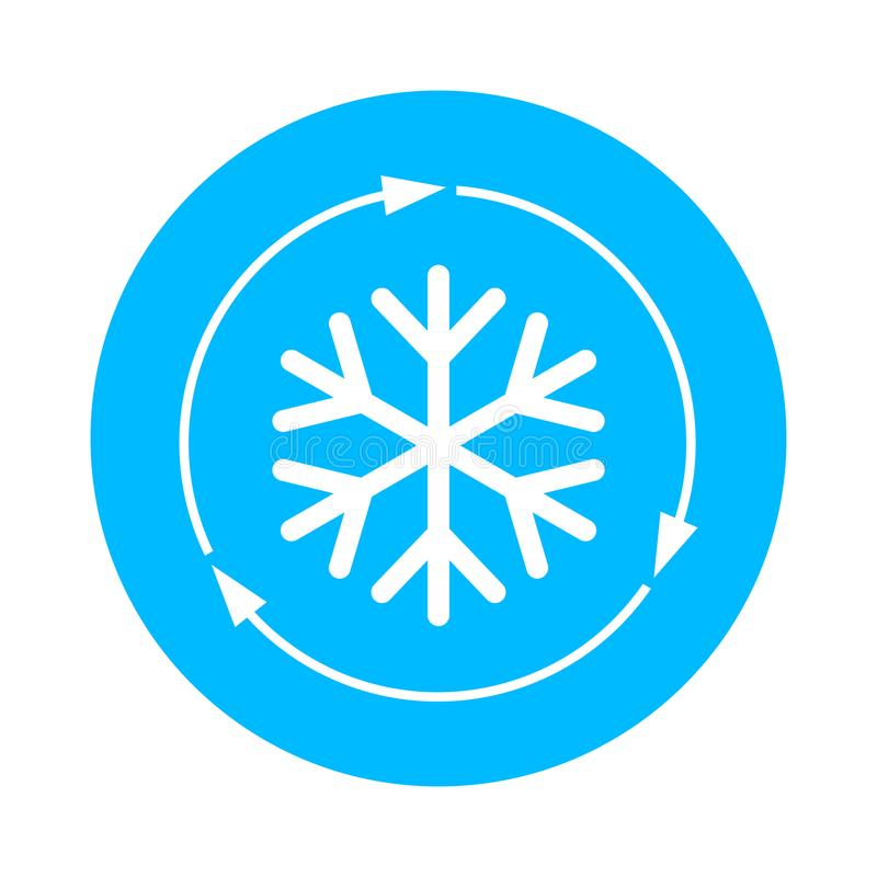 Air conditioner vector icon. Isolated on white background vector illustration