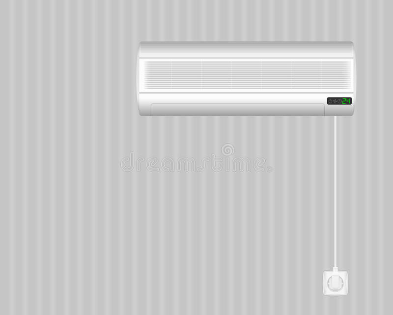 Air Conditioner On Wall Stock Image