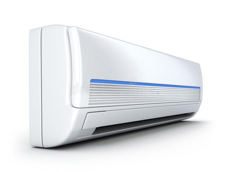 Air-conditioner. On white background (done in 3d stock illustration