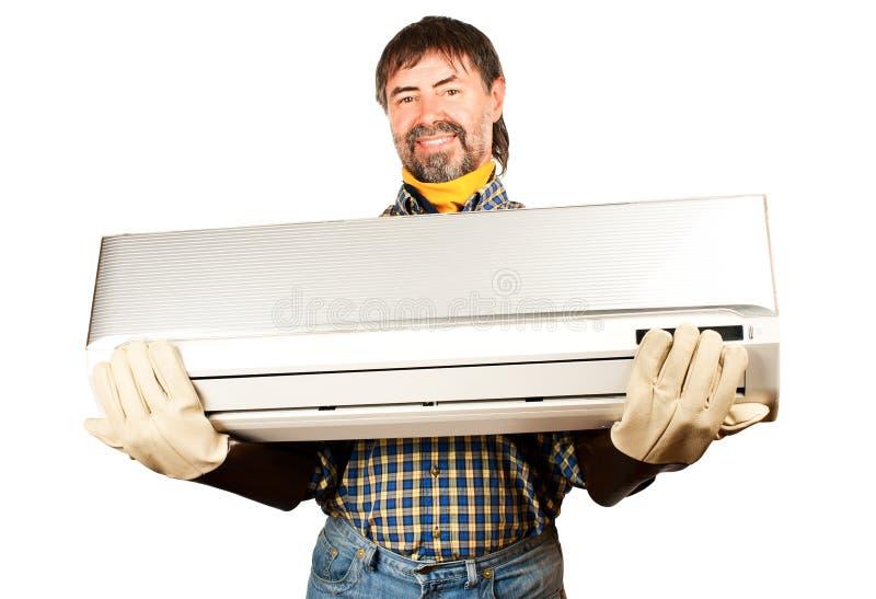Download Air conditioning adjuster stock photo. Image of repairman - 26069756