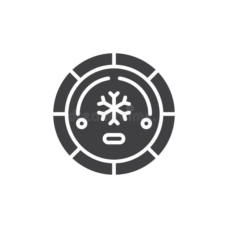 Air conditioning button vector icon. Filled flat sign for mobile concept and web design. Air conditioner car switch simple solid icon. Symbol, logo stock illustration
