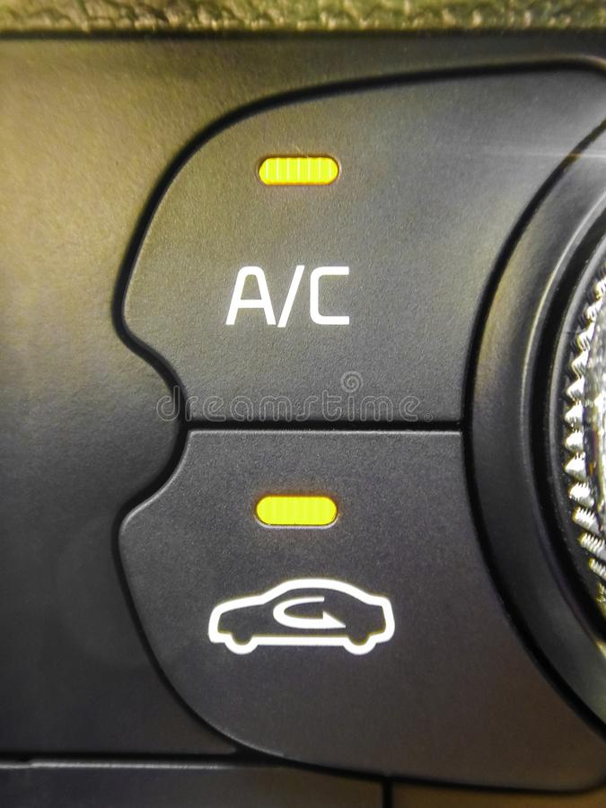 Air conditioning car controls royalty free stock image