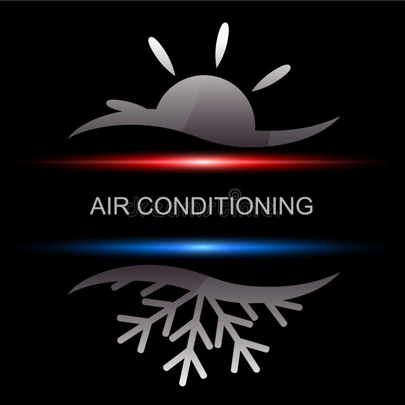Air conditioning. Design for business, vector vector illustration
