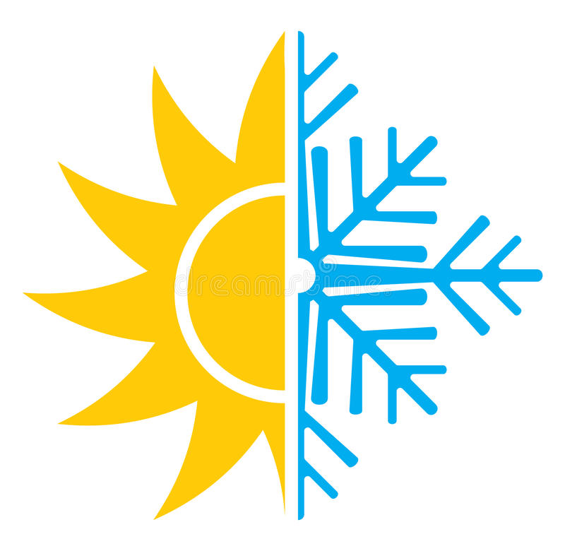 Air Conditioning Icon - Summer Winter Stock Vector - Illustration of ...