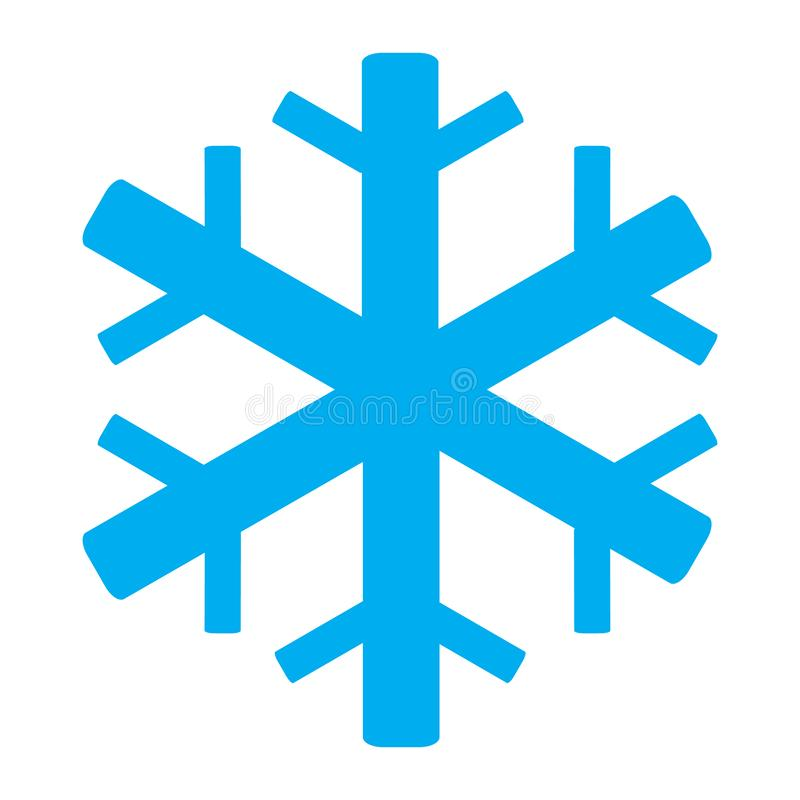 Air conditioning icon on white background. snowflake symbol. flat style. snowflake icon for your web site design, logo, app, UI. Air conditioning icon on white royalty free illustration