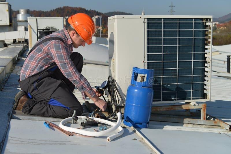 Air Conditioning Repair stock images