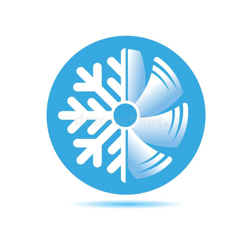 Air Conditioner Icon Flat Design Stock Vector Illustration Of