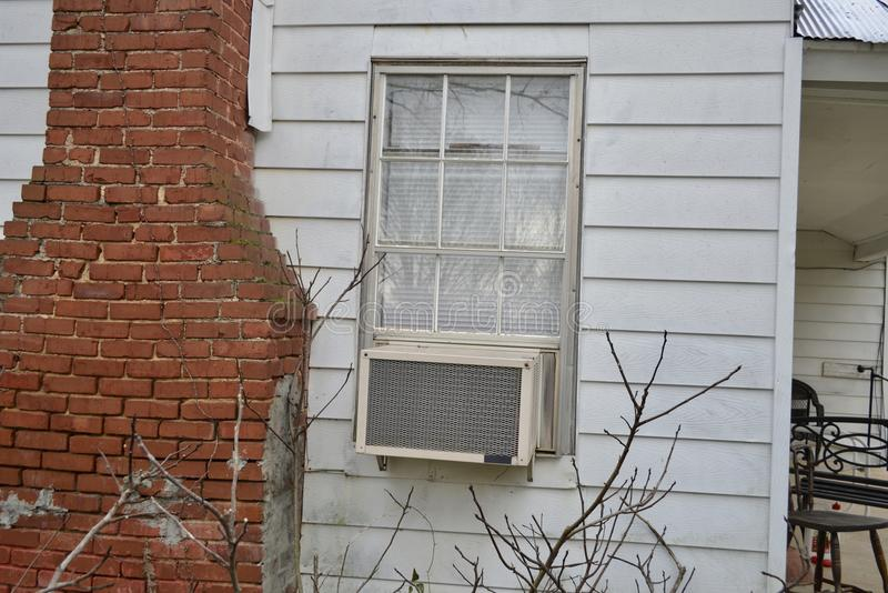 Air Conditioning Unit AC in window royalty free stock photos
