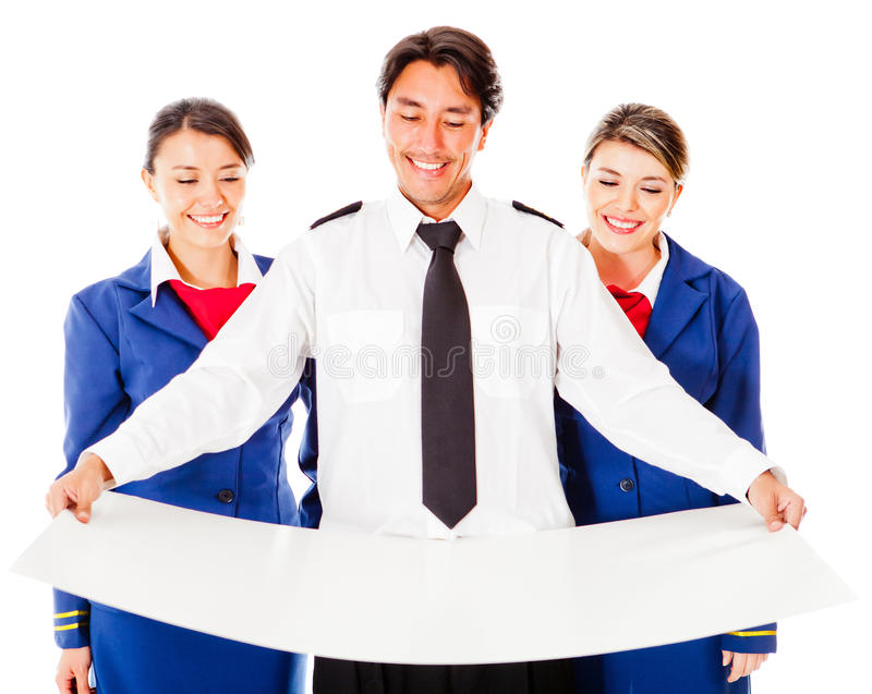 Download Air crew holding a model stock photo. Image of people - 23829918