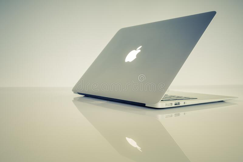 Air de Macbook photographie stock