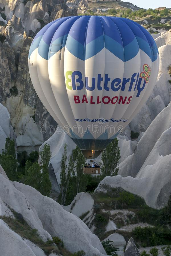 air den varma ballongen royaltyfri fotografi