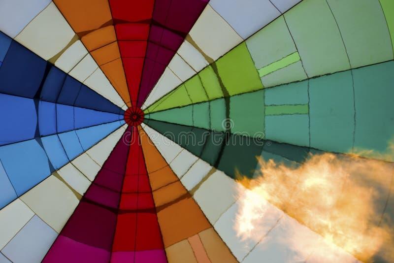 air den varma insidan för ballongen royaltyfri foto