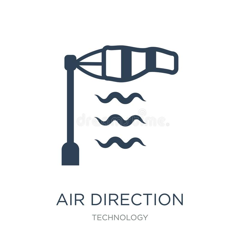 air direction icon in trendy design style. air direction icon isolated on white background. air direction vector icon simple and stock illustration