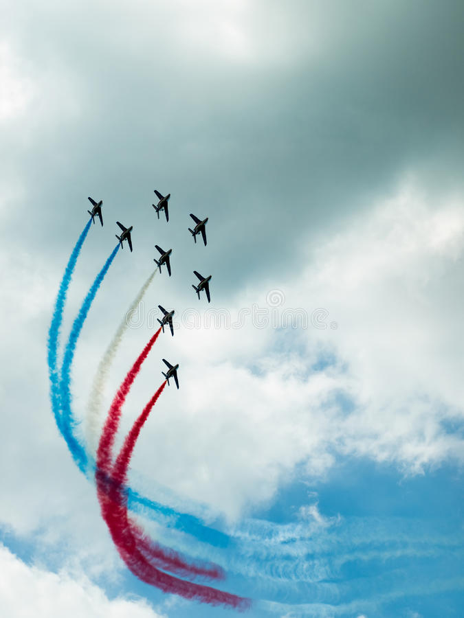 Download Air display team stock image. Image of color, france, fast - 9948283