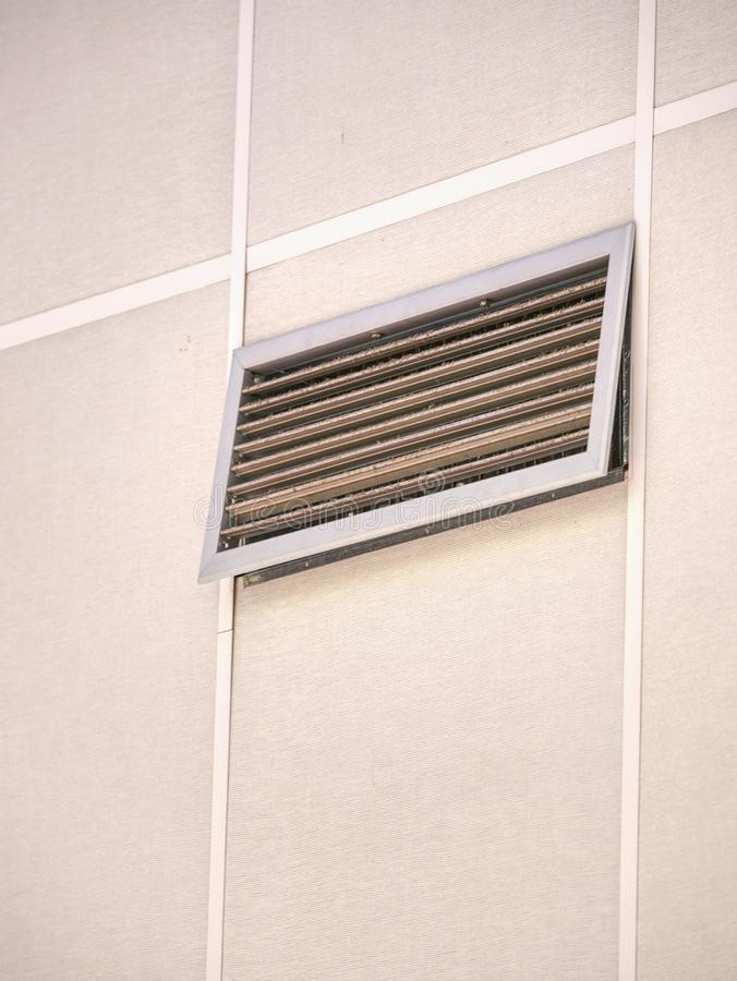 Air duct on ceiling in the mall or hospital. Air conditioner royalty free stock images