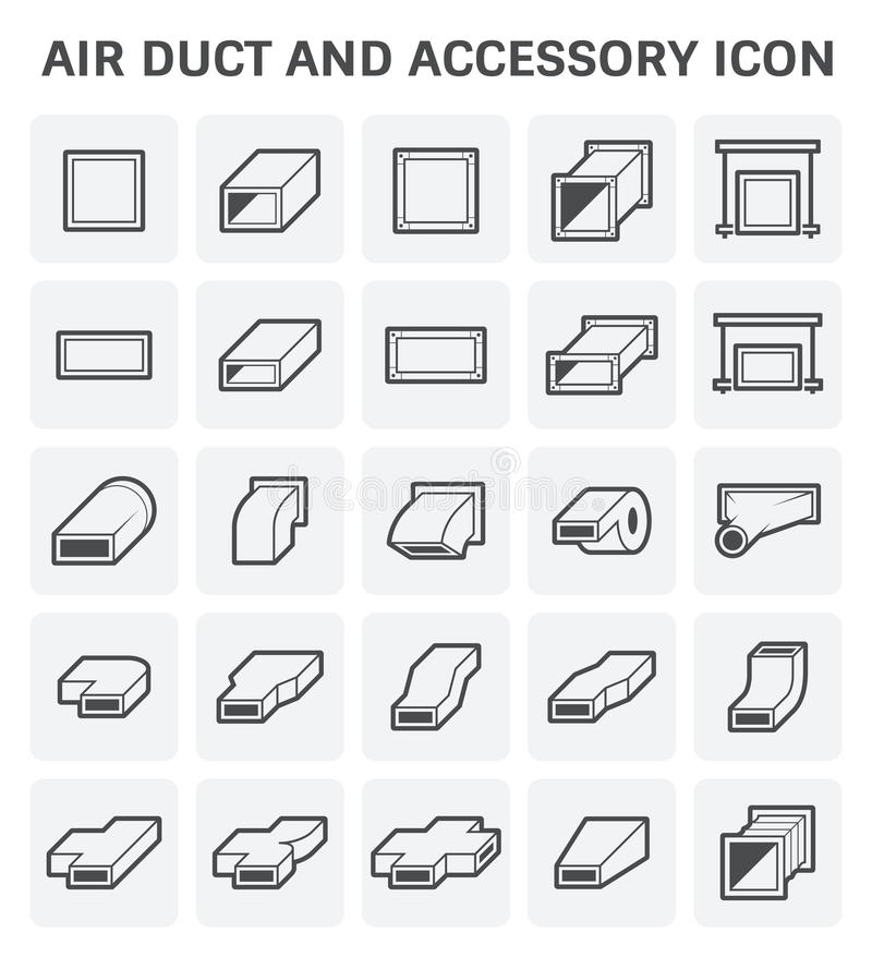 Air Duct Icon Stock Vector  Illustration Of Ducting