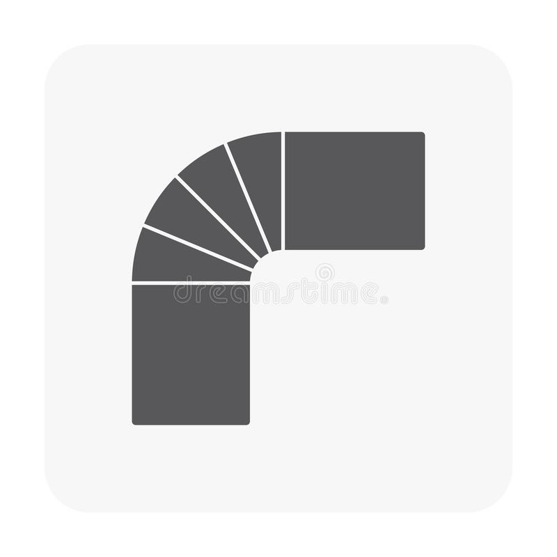 Air duct pipe. Icon on white vector illustration