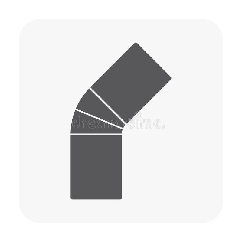 Air duct pipe. Icon on white royalty free illustration