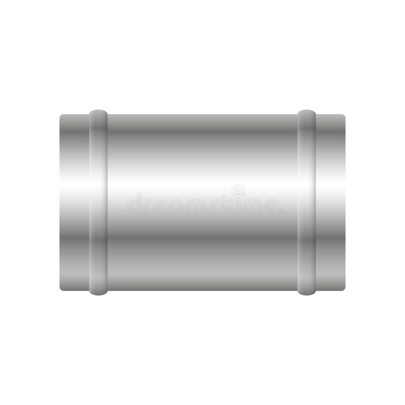Air duct pipe. Air duct vector design isolated on white background royalty free illustration