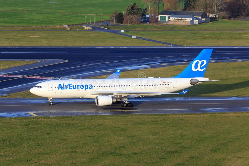 Air Europa Airbus A330. Taxiing at Amsterdam Airport Schiphol stock photos
